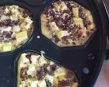 Omelet Tahu-Jamur Keju langkah memasak 5 foto