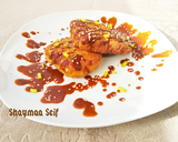 صورة الخطوة 7 من وصفة Fried crispy chicken with chocolate sauce