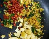 Garlic poha recipe step 2 photo