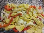 Foto del paso 2 de la receta Trucha rellena de jamón con guarnición
