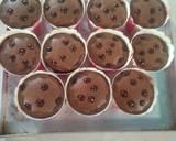 Muffin triple cokelat langkah memasak 9 foto