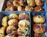 Korean Garlic Bread with homemade Cream Cheese langkah memasak 13 foto