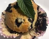 Muffinki z jagodami i listkiem mięty z domowego ogródka krok przepisu 3 zdjęcie
