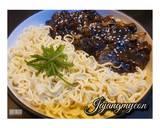 Jajangmyeon langkah memasak 7 foto