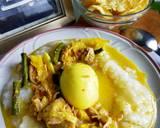 Bubur nasi langkah memasak 5 foto