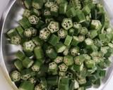 Dry okra curry(bhindi) recipe step 1 photo