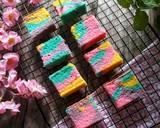 Cheese Unicorn Ogura Cake #cookpadpeduli #kankerpayudara langkah memasak 11 foto
