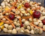 Pieczone warzywa z sosem czosnkowym krok przepisu 1 zdjęcie