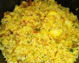 Stir fried rice with minced meat and sunny side up egg recipe step 3 photo