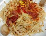 80. Spaghetti Aglio Olio Smoked beef pedas langkah memasak 3 foto