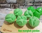 Kue mangkok pandan langkah memasak 7 foto