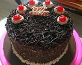 Black Forest Cake Ultah langkah memasak 6 foto