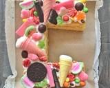 Letter cake langkah memasak 7 foto