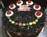 Black Forest Cake Ultah langkah memasak 8 foto