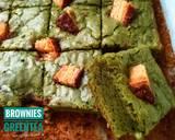 Greentea Brownies langkah memasak 10 foto