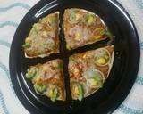 Cheesey Pav Bhajji Pizza recipe step 7 photo