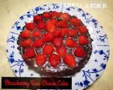 Tanpa mixer dan oven Strawberry Raw chocolate cake (simple) langkah memasak 7 foto