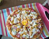 Pizza teflon langkah memasak 11 foto