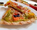 Spinach Hummus Thin Crust Pizza with Hummus Salad recipe step 30 photo