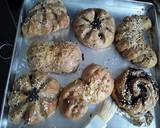 Roti lembut gula merah no mentega langkah memasak 13 foto