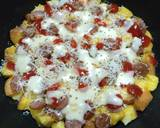 Pizza Roti Tawar langkah memasak 6 foto