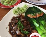 Tumis salmon jamur pokchoy lada hitam enak mudah#homemadebylita langkah memasak 7 foto