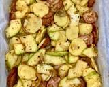 Zapiekanka warzywna z kiełbasą krok przepisu 1 zdjęcie