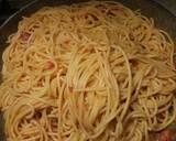 Spaghetti with pancetta, tomatoes and pecorino recipe step 4 photo