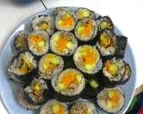 Kimbap (Cơm cuộn Hàn Quốc) bước làm 4 hình
