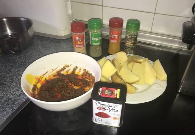 2 Patatas Gajo Al Horno Con Toque De Curry