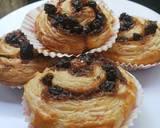 Cinnamon raisin puff pastry langkah memasak 5 foto