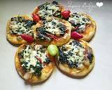 Pizza Mini Bayam langkah memasak 10 foto
