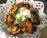 Colorful Vegetable Salad with Fried Chicken and Poached Egg recipe step 6 photo