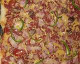 Homemade Beef brawn pizza#moms recipe step 10 photo