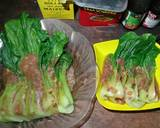 Pakcoy Saos Tiram (with garlic and corned beef) langkah memasak 5 foto