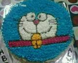 Cake Ultah Doraemon (blackforest tanpa butter lembut & simple) langkah memasak 15 foto