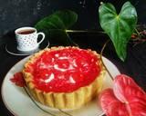 Pie Milky Strawberry langkah memasak 10 foto