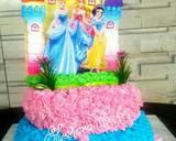 B-Day Cake Barbie langkah memasak 8 foto