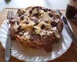 Super creamy chocolate Waffle with almond and banana langkah memasak 4 foto