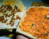 Sandwich Telur Ceplok Sosis langkah memasak 5 foto