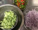 Colorful Vegetable Salad with Fried Chicken and Poached Egg recipe step 3 photo