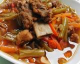 Asem - Asem Buncis dan Daging langkah memasak 8 foto