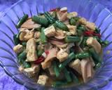 Sayur kacang panjang tahu sosis langkah memasak 7 foto
