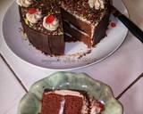 Blackforest Cake #Seninsemangat langkah memasak 9 foto