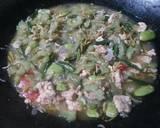 Tumis Pare Bunga Pepaya Rebon langkah memasak 4 foto