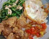 Rice Bowl Salted Egg Chicken Sambal Matah langkah memasak 7 foto