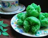 Kue mangkok tape ketan hijau langkah memasak 6 foto