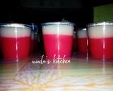 Puding merah putih horee langkah memasak 6 foto