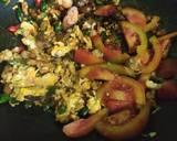 Mie Goreng Ikan Pari Asap langkah memasak 4 foto
