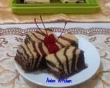 Ogura Cake Zebra with Coconut Milk langkah memasak 9 foto